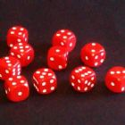 12mm Opaque Spot Dice - Red